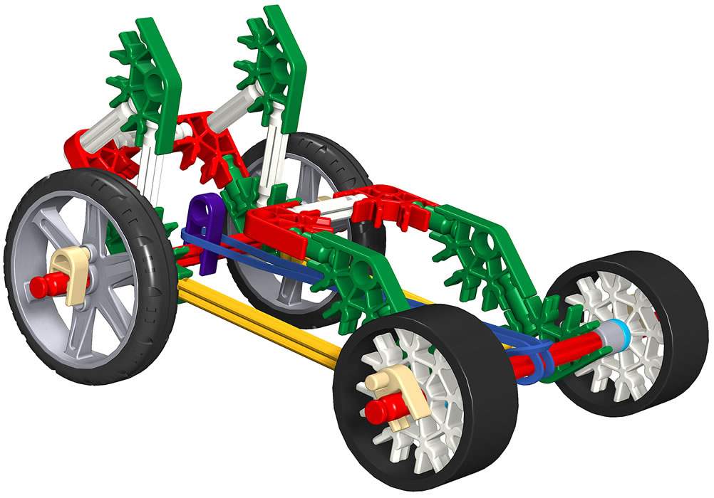 Knex Short Rubber Band Racer