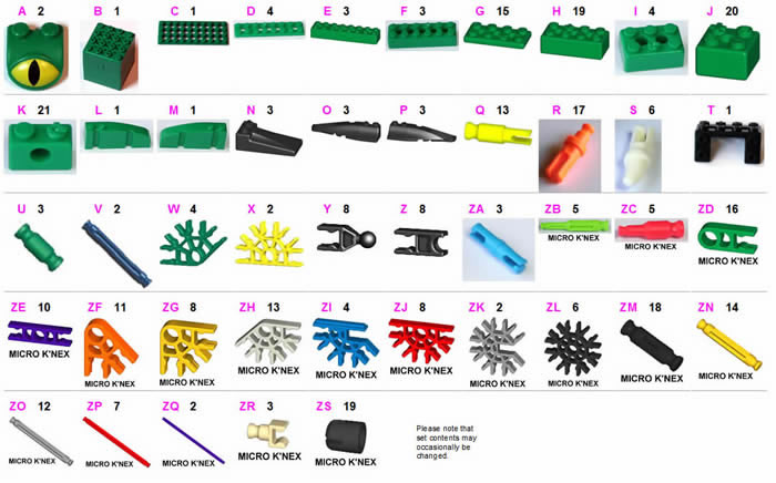 Micro KNEX MICRO K/'NEX Connector 3-way Yellow 20 Pieces Part 509042